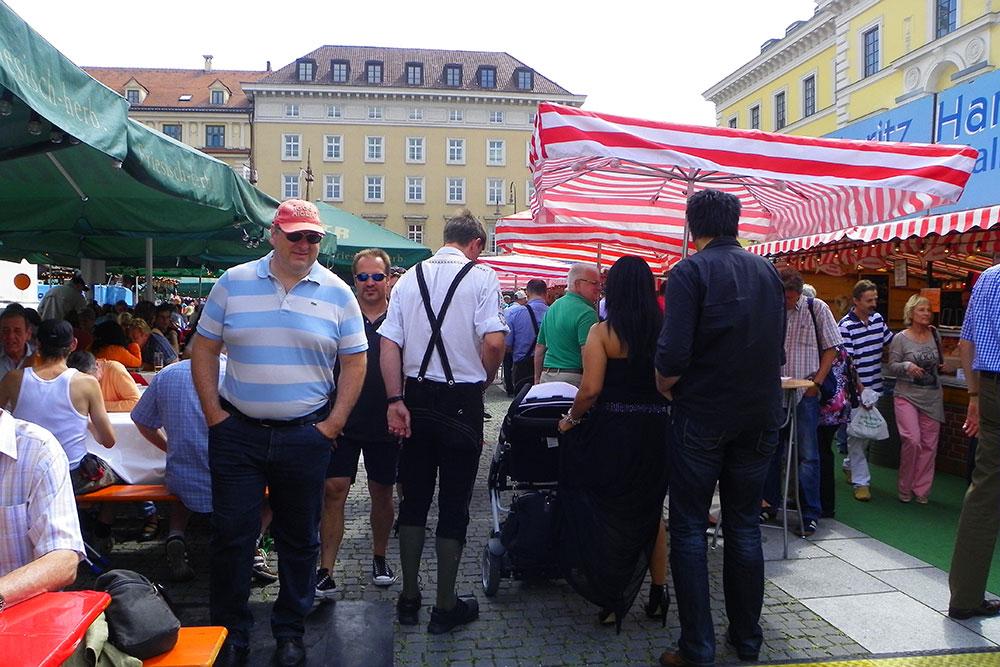 München 2018 Fischmarkt Hamburger