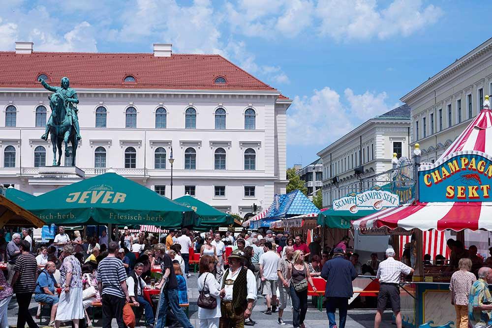 Hamburger Fischmarkt auf Reisen in München